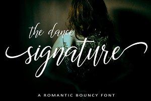 The Dance Signature | A BOUNCY FONT