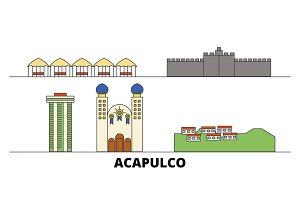 Mexico, Acapulco flat landmarks
