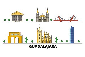 Mexico, Guadalajara flat landmarks
