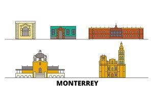 Mexico, Monterrey flat landmarks