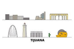 Mexico, Tijuana flat landmarks