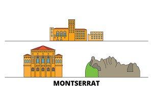 Montserrat flat landmarks vector