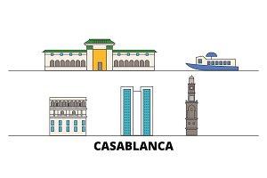 Morocco, Casablanca flat landmarks