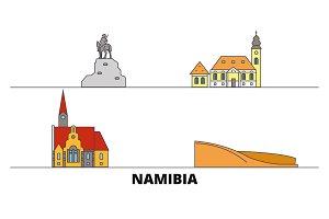 Namibia flat landmarks vector