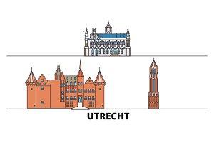 Netherlands, Utrecht flat landmarks