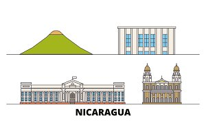 Nicaragua, Managua flat landmarks