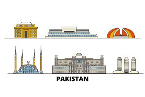 Pakistan, Islamabad flat landmarks
