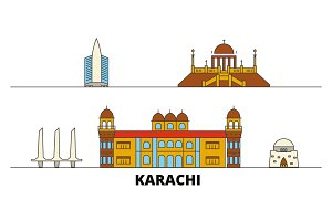Pakistan, Karachi flat landmarks