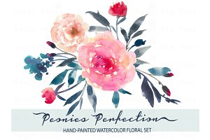 Peonies Perfection-Watercolor Clip A