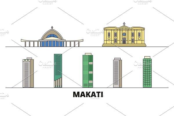 Philippines, Makati flat landmarks