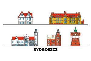 Poland, Bydgoszcz flat landmarks