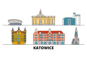 Poland, Katowice flat landmarks