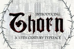 THORN, a Blackletter Typeface