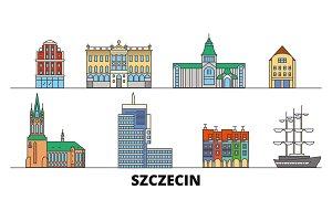 Poland, Szczecin flat landmarks