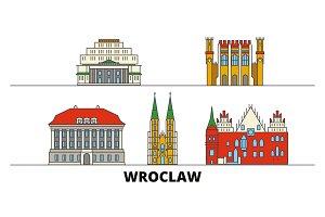 Poland, Wroclaw flat landmarks