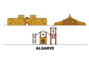 Portugal, Algarve flat landmarks
