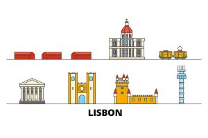 Portugal, Lisbon flat landmarks