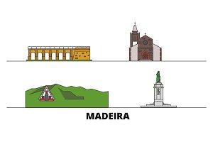 Portugal, Madeira flat landmarks