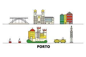 Portugal, Porto flat landmarks