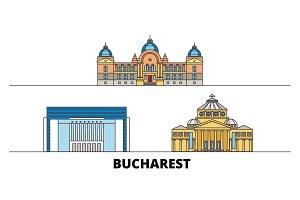 Romania, Bucharest flat landmarks