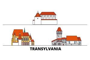 Romania, Transylvania flat landmarks