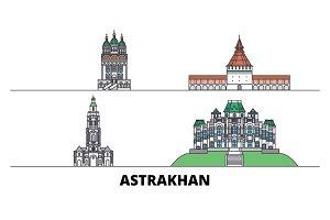 Russia, Astrakhan flat landmarks