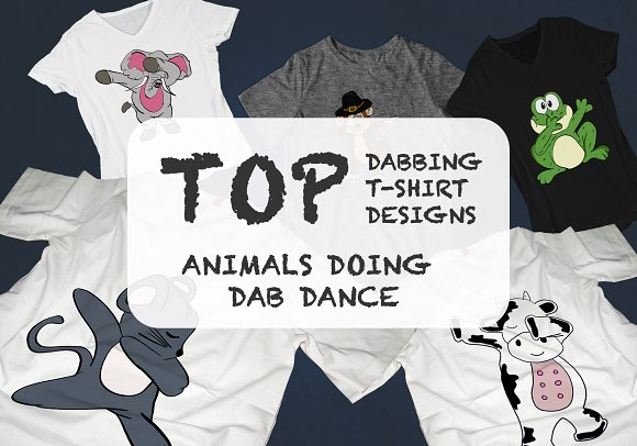 20 Animal Dabbing T-Shirt Designs
