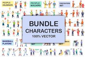 Bundle Flat People Characters