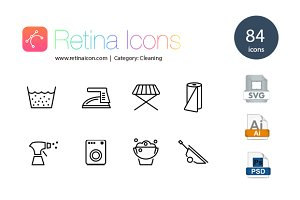 84 iOS Cleaning & Household Icons