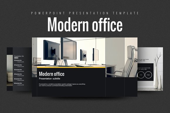 Modern office presentation templates on creative market for Interior design office ppt