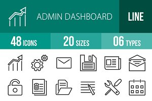 48 Admin Dashboard Line Icons