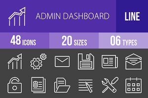 48 Admin Dashboard Line Inverted