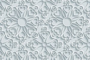 Abstract Paper Floral Pattern