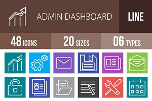 48 Admin Dashboard Multicolor Icons