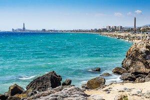 Mediterranean coast, Mongat beach