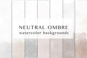 Neutral ombre watercolor
