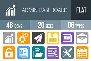 48 Admin Dashboard Flat Round Corner