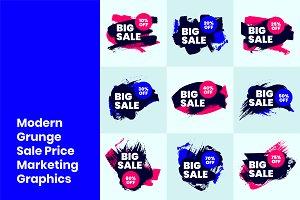 Modern Grunge Sale Price Graphics