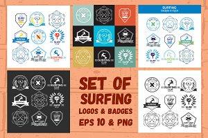Surf Logos Set