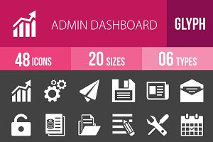 48 Admin Dashboard Glyph Inverted