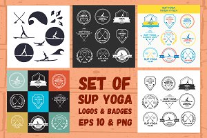 SUP Yoga Logos & Badges Set