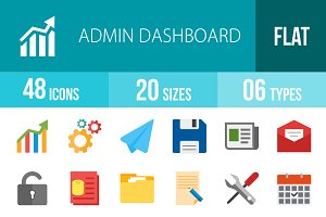 48 Admin Dashboard Flat Multicolor