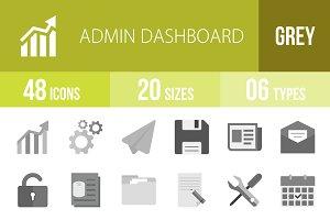 48 Admin Dashboard Greyscale Icons