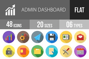 48 Admin Dashboard Flat Shadowed