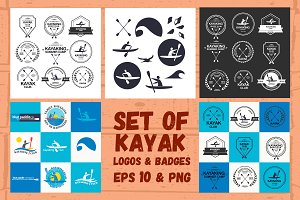 Kayak Logos & Badges Set