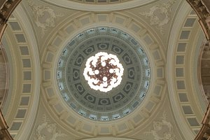 Interior shot of a dome
