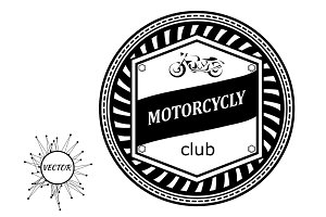 Logo with a motorcycle. Badge
