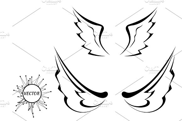 Black tattoo wings