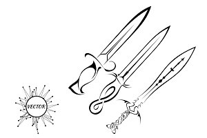 Tattoo knife on white background