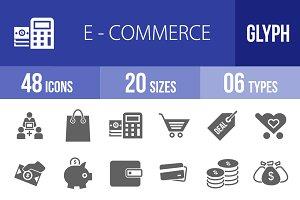 48 Ecommerce Glyph Icons